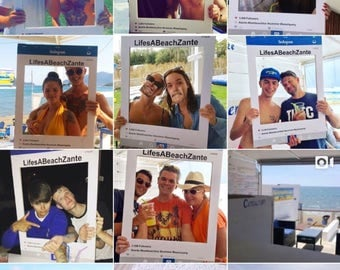 Budget A1 Large social media personalised party frame / photo booth prop