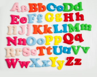 Felt letters Stuffed letters Letters for kid Educational toy Colorful letters Stuffed alphabet Felt nursery letters Alphabet set