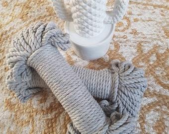 Soft Grey Macrame Rope/Cord