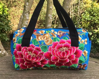 Embroidered Hmong bag, boho bag, festival bag, colourful bag, Thai bag, ethnic bag