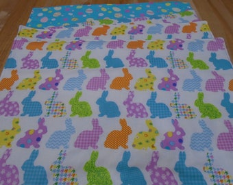 Reversible Placemats,Set of 4 Placemats,Placemats,Reversible Table Mats,Bunny Placemats,Easter Placemats,Easter Egg Placemats