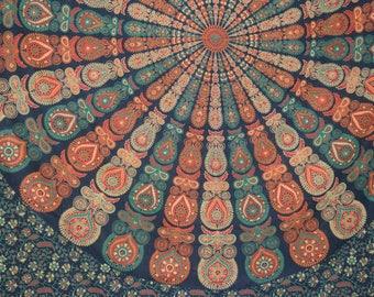 Vibrant Mandala Indian Tapestry