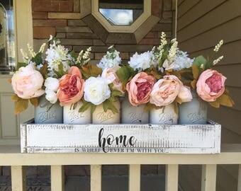 Mason Jar Centerpiece Decor Rustic Wedding