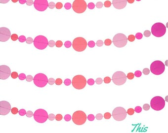 Circle Garland Handmade Party Decoration - customise your colours!