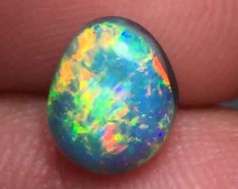 Rolling Flash Lightning Ridge Gem Black Opal