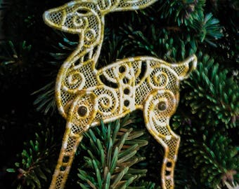 Lace Reindeer Ornament