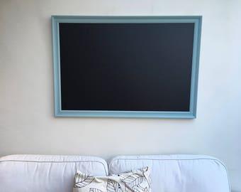 Giant Blackboard. Magnetic Blackboard. Magnetic Chalkboard. Framed blackboard. Large blackboard. Framed notice board. Magnetic memo board