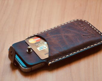Vintage Genuine leather case for iPhone 5se