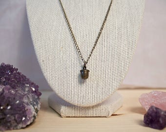 Woodland Acorn Whimsical Cute Charm Necklace