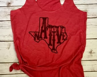 Native Texan, Womens Tank, Cute Texas Tanks, Texas Pride, Texas, State Pride, Lone Star, Trendy, Tank, Top,