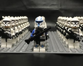 Star Wars Clone Minifigures 43 X Clone Wars Birthday Gift Build Clone Army Compatible Custom made Birthday Gift for Son Husband