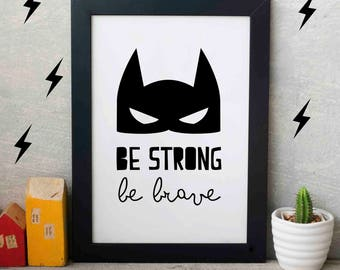 Superhero Wall Art superhero print | etsy