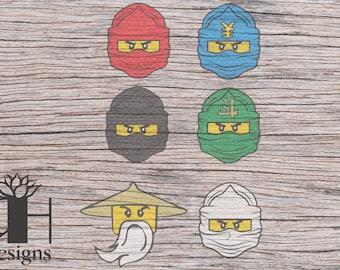 Lego Ninja Clan SVG/PNG