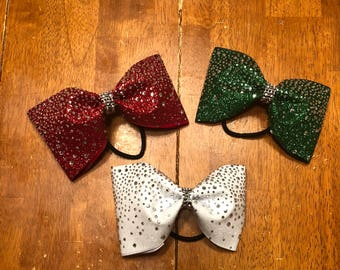Bling Tailless Christmas Bows