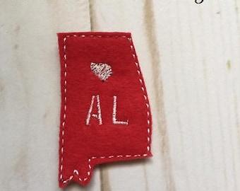Alabama Feltie Embroidery Design