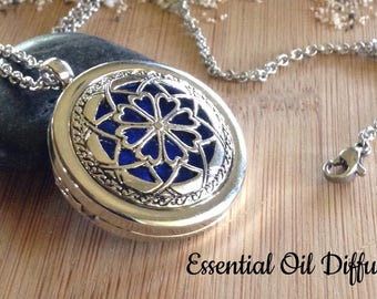 Oil Diffuser Necklace - Dream Catcher Essential Oil Diffuser Necklace Locket - Gift