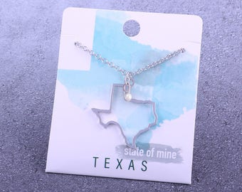 Customizable! State of Mine: Texas Silver Necklace - Great Gift!