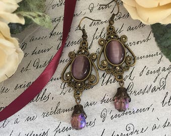 Victorian Style Earrings, Victorian Style Jewelry, Victorian Earrings, Victorian Jewelry, Antique Style Earrings, Antique Style Jewelry