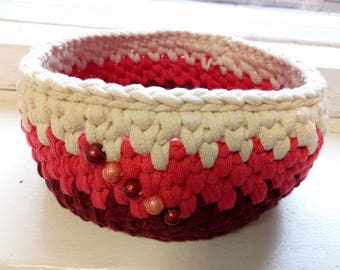 Home Decor / Storage Basket / Small Crochet Basket / Crochet Bowl / Crochet Storage Container / Small Easter Basket / Dorm Decor, Basket