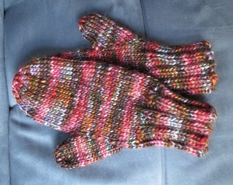 Hand-knit Luxury Mittens Wool/Acryclic Blend