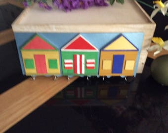 Beach hut key holder