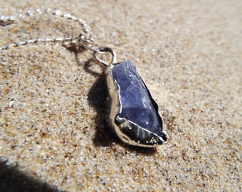 Tansanit, Tansanitkette, tanzanite necklace, Statementkette, Modern necklace, Silberkette, Silver necklace, Boho necklace, sterling silver