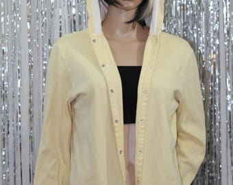 Vintage 100% Cotton Yellow 90's Abercrombie & Fitch Jacket (XL)