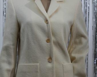 90's Wool Cream Talbots Blazer (10)