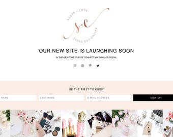 Chloe Coming Soon Web Page - WordPress Genesis Theme - Responsive Mobile Friendly Coming Soon Holding Website