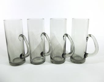 RARE Per Lutken for Holmegaard Olhund Beer Mugs, Set of 4