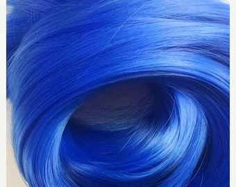 Etsy Celebration Sale Sonic Sapphire Blue Nylon Doll Hair Hank for Rerooting Barbie® Monster High® Ever After High® My Little Pony Fashion R