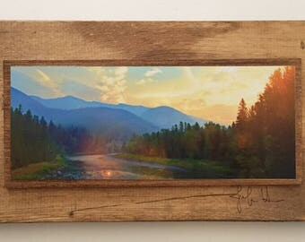 Glacier National Park Sunrise, Montana, Art Photography, Framed Wall Art