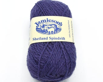 Spindrift Purple - Destash Yarn - Shetland Wool - Yarn for Sale - Fair Isle - Shetland Yarn - Knitting Yarn - Knitting Wool - Sweater Yarn