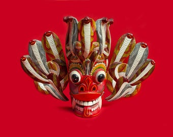 "Traditional Sri Lanka ""naga raksha"" mask"