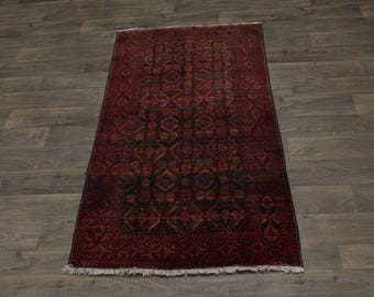 Lowest Price S Antique Tribal Balouch Persian Oriental Area Rug Carpet 3'3X6'4