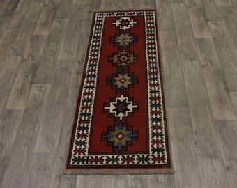 Gorgeous Tribal Wool Runner Ghoochan Persian Area Rug Oriental Carpet 2ʹ3X6ʹ5