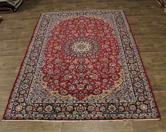 Lovely Traditional Najafabad Isfahan Persian Area Rug Oriental Carpet Sale 8X12
