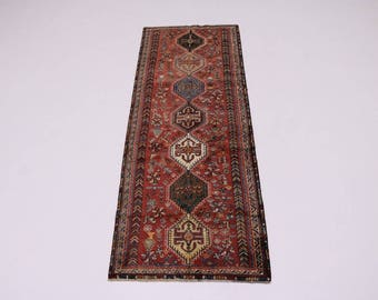 Gorgeous Design S Antique Tribal Shiraz Persian Runner Oriental Area Carpet 4X10