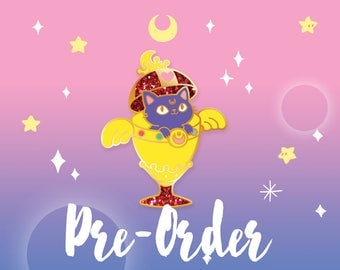 PRE-ORDER Luna Chalice // Hard Enamel Lapel Pin with Glitter Accents