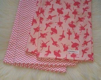 Receiving blanket, Baby blanket, Toddler blanket, Organic baby blanket, Ballerina dancer baby blanket