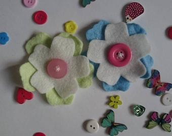 Felt Flower Magnets