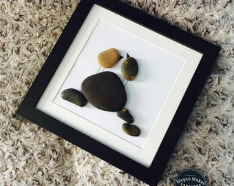 Love on a Rock Pebble Art