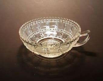Pressed Glass Nappy Nut Candy Olive Dish