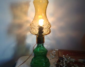 Vintage glass lamp