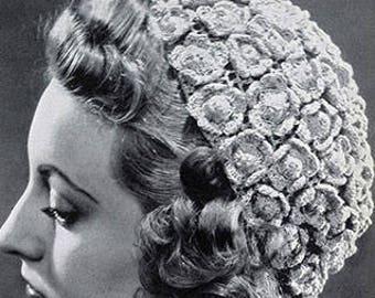 Cappello all'uncinetto a fiori - Flower Top Hat
