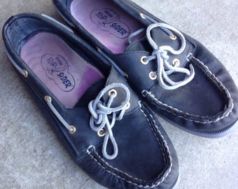 Vintage Sperry Top-Sider Blue boat shoes Women's 7.5