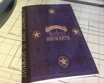 INSTANT DOWNLOAD Hogwarts, A Beginner's Guide DIY Notebook Printable Download