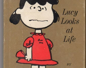 PEANUTS BOOK - Lucy Looks at Life - Hallmark by Schulz (HC) 1970's