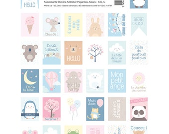 lanche 64 stickers in the form of stamps - stamps child - child Stickers - stickers bear - T11004627