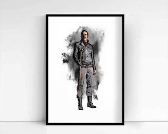 The Walking Dead 'Negan' A4 Portrait